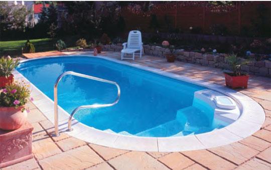 Hervorragend Schwimmbecken Mallorca oval als Set mit Römertreppe - Espa Pool  LK38